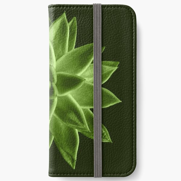 Greenery succulent Echeveria agavoides flower iPhone Wallet