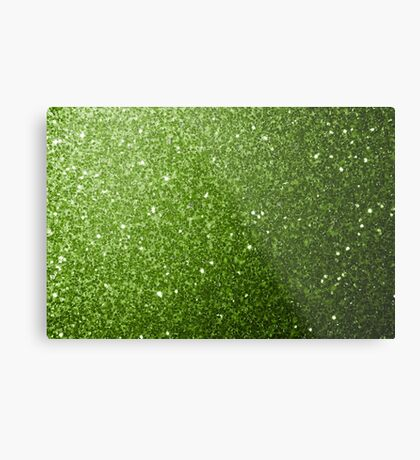 Beautiful light green greenery glitter sparkles Metal Print
