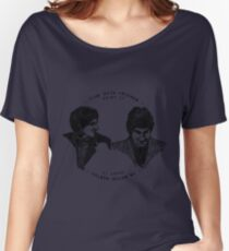 John Entwistle & Pete Townshend - Graphic Portrait (with lyrics!) Women's Relaxed Fit T-Shirt