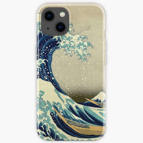 Hokusai, The Great Wave off Kanagawa, Japan, Japanese, Wood block, print. iPhone Soft Case