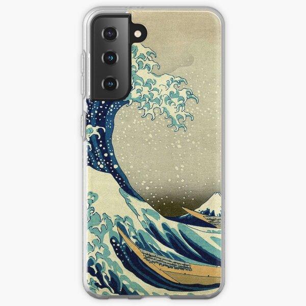 Hokusai, The Great Wave off Kanagawa, Japan, Japanese, Wood block, print. Samsung Galaxy Soft Case
