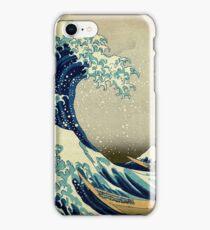 Hokusai, The Great Wave off Kanagawa, Japan, Japanese, Wood block, print iPhone Case/Skin