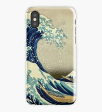 Hokusai, The Great Wave off Kanagawa, Japan, Japanese, Wood block, print iPhone Case
