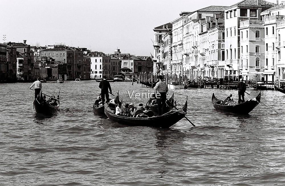 Singing Gondolas by Venice