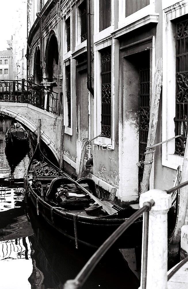Gondola Waiting by Venice