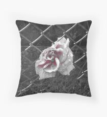 A piece of colour in a black and white world Throw Pillow