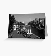 Amsterdam By The Canal Greeting Card