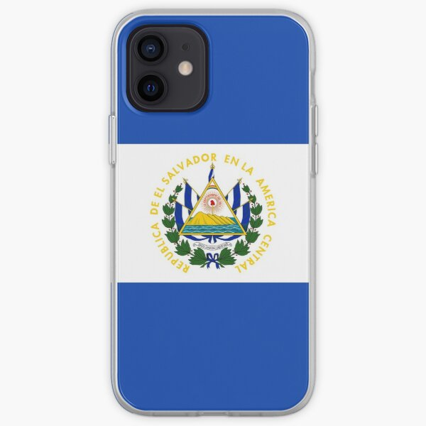 Bandera de El Salvador Funda blanda para iPhone