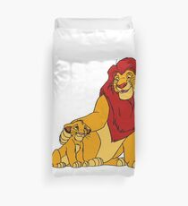 Simba and Mufasa Lion King Duvet Cover