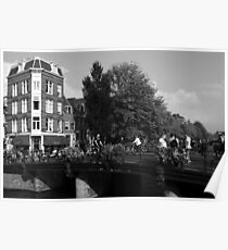 Canal Bridge In Amsterdam Poster