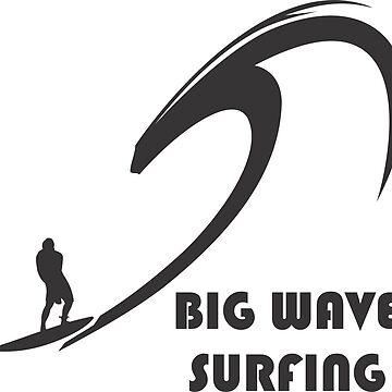 BIG WAVE SURFING T-Shirt by claudiorrb