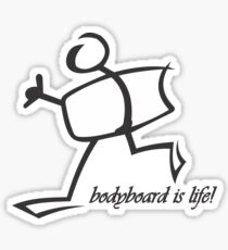 Bodyboard Life T-Shirt Sticker