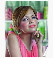 Emma stone oil paint Poster