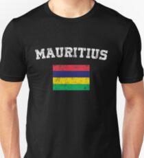 Mauritian Flag Shirt - Vintage Mauritius T-Shirt T-Shirt
