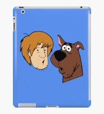 A man and a dog iPad Case/Skin