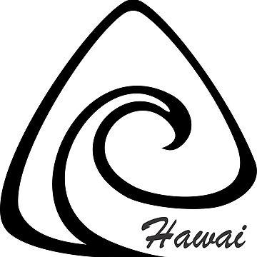 Hawai Wave T-Shirt by claudiorrb