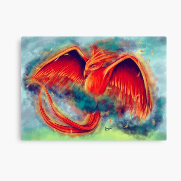 Phoenix in Flight Canvas Print