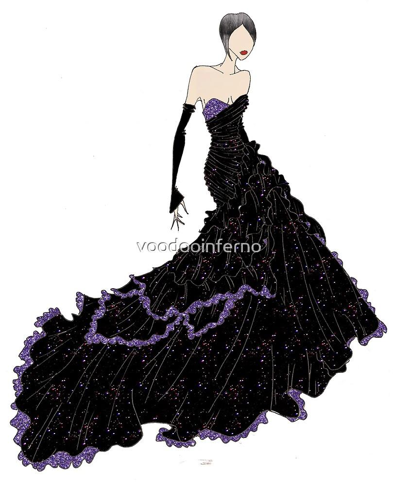 Diva Dress: Black + Purple by voodooinferno
