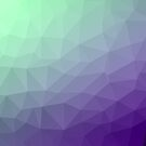 Purple green ombre gradient geometric mesh by PLdesign