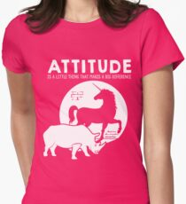 Attitude Rhino > Unicorn Motivational Animals Women's Fitted T-Shirt