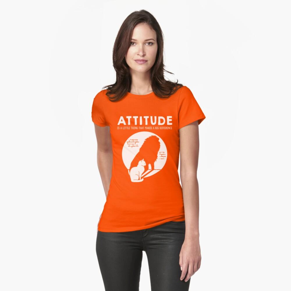 Attitude Cat > Lion Motivational Animals Fitted T-Shirt