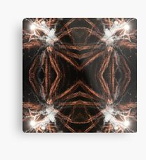 Happy New Year Gold fireworks with smoke Metal Print