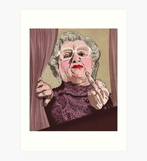 Mrs Doubtfire - Illustration - Robin Williams - Film - Funny Art Print