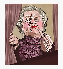 Mrs Doubtfire - Illustration - Robin Williams - Film - Funny Photographic Print