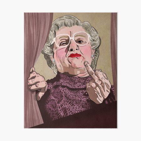 Mrs Doubtfire middle finger - Illustration - Robin Williams - Film  Art Board Print