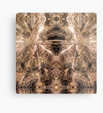 Happy New Year Gold sparkly fireworks Metal Print