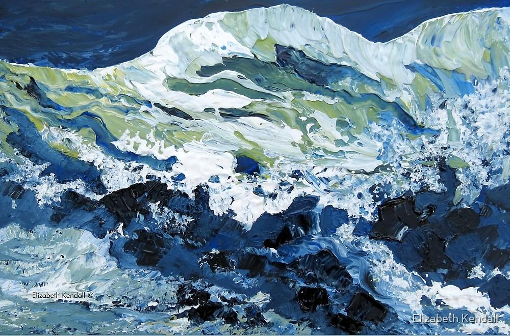 Painting waves again by Elizabeth Kendall