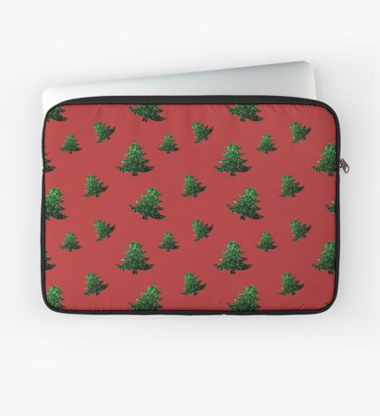 Sparkly Christmas tree green sparkles pattern Laptop Sleeve