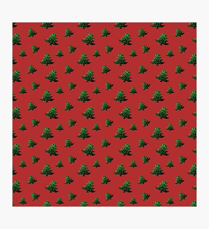 Sparkly Christmas tree green sparkles pattern Photographic Print
