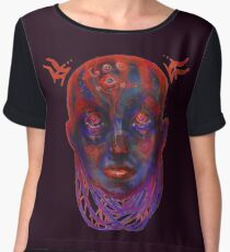 Little evil Women's Chiffon Top