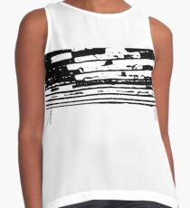 Black and White Drip  Contrast Tank
