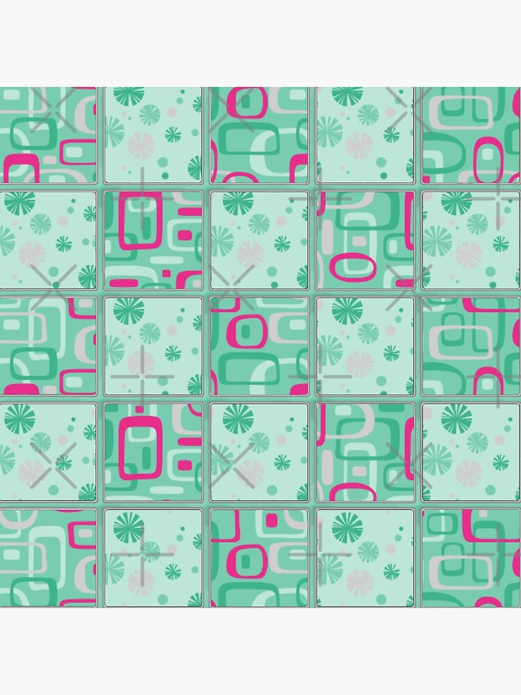 HIGH SELLING RETRO 1950S INSPIRED CHECKS IN PINK AND AQUA  by ozcushionstoo