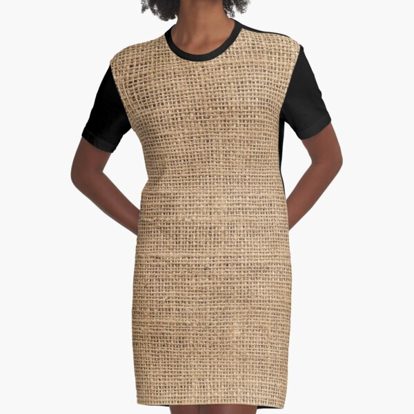 Burlap Graphic T-Shirt Dress