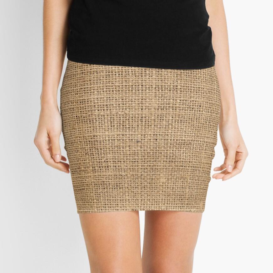 Burlap Mini Skirt