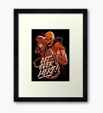 Scorpion Get Over Here Framed Print