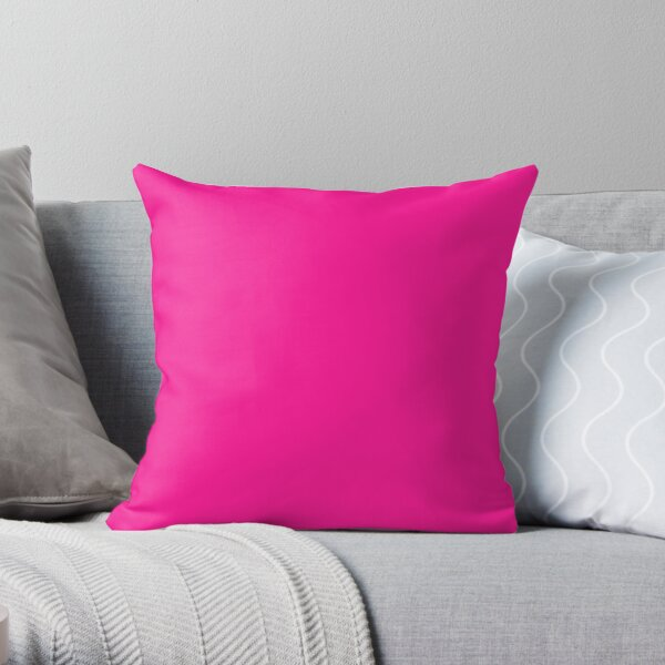 PLAIN SOLID DEEP PINK -100 PINK SHADES ON OZCUSHIONS ON ALL PRODUCTS  Throw Pillow