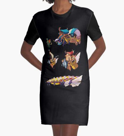 Float island Vestido camiseta