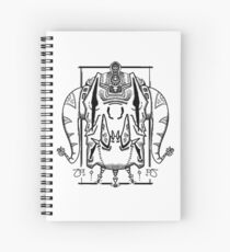 Elephrog Demon Head Design Spiral Notebook