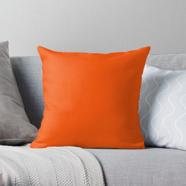SOLID PLAIN INTERNATIONAL ORANGE -OVER 100 SHADES OF ORANGE ON OZCUSHIONS Throw Pillow