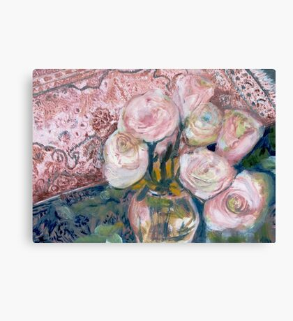 Roses on Big Mama's Chest Canvas Print