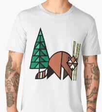 Red Panda Geometric  Men's Premium T-Shirt