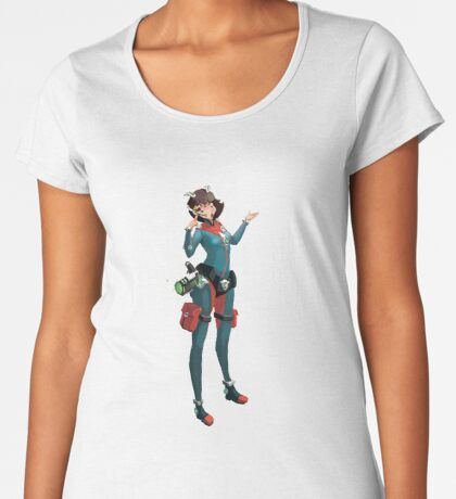 Girl warrior Camiseta premium para mujer