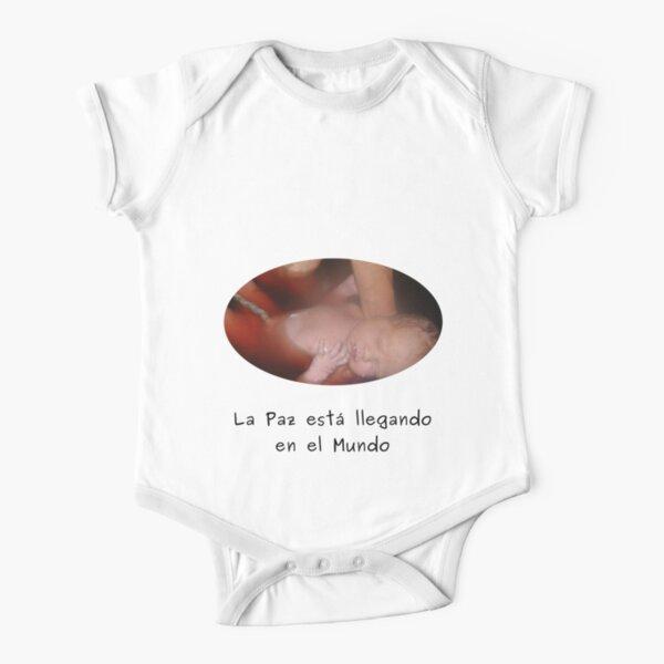Paz in el Mundo - Ropas blancas for babies Short Sleeve Baby One-Piece