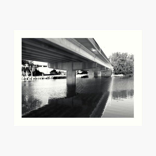 the bridge at Budgewoi Art Print