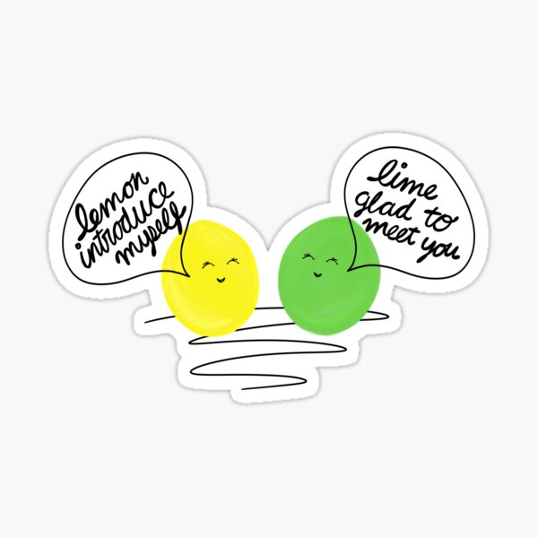 Funny and Adorable Fruit Friends Sticker