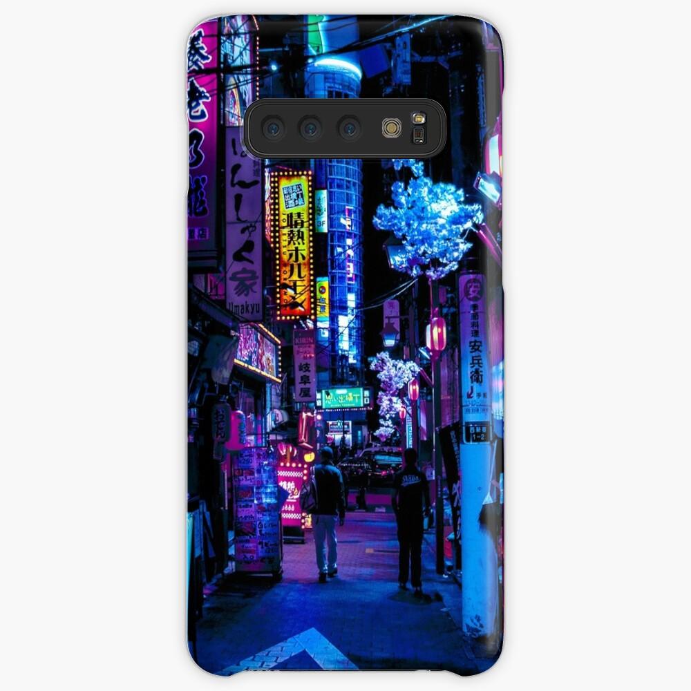 Blue Tokyo Alleys Case & Skin for Samsung Galaxy